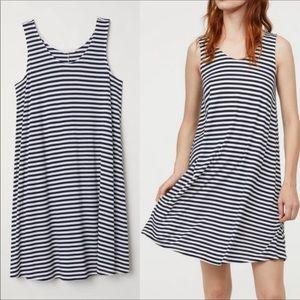 H&M Black & White Striped Swing Tank Dress